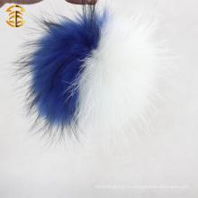 Стильная шляпа Аксессуар Меховые шарики Pompom Подлинная Raccoon Мех Оптовая Мех Pompom