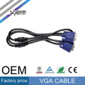 Precio de fábrica de SIPU 3 +2 cables de video de audio de la computadora al por mayor macho a macho cable vga