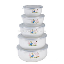 5 setscute decals enamel ice bowl