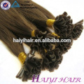Double Drawn Guangzhou 100% Flat Keratin Remy Hair Extension