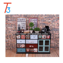 Wholesale living room Shabby Vintage Antique Reproduction Wooden Furniture Home Decoration storage cabinet