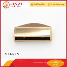 Bolsa de couro de liga de zinco luz ouro bolsa de metal ornamentos