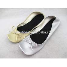 Portable square toe ladies ballerina shoes flat soft ballet shoes girls