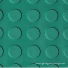 Folha de borracha antiderrapante do projeto diferente da moeda das cores
