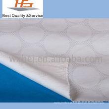 Listra 100% branca da tela da folha de cama do algodão para a matéria têxtil home