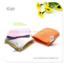 Eau colorée absorbée éponges de bain