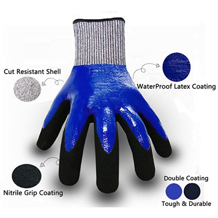 Full Finger Anti Cut Worker Gloves