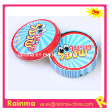 Round Shape Playing Card in Tin Box Packing