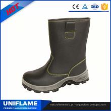Sapatas de aço altas da segurança das sapatas de trabalho do plutônio do dedo do pé dos homens do corte de couro