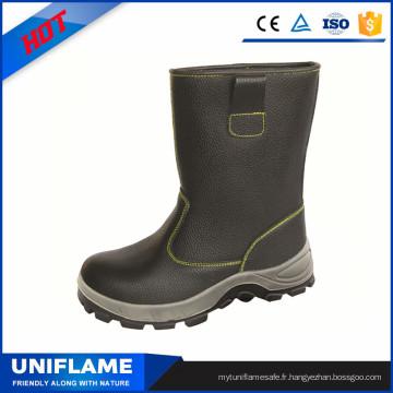 Bottes de travail en cuir d'unité centrale d'orteil d'acier d'hommes de coupe élevée de chaussures de sécurité