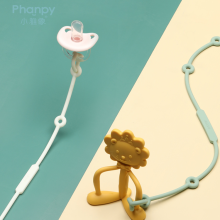 Indonesia Baby Pacifier Teething Clips Silicone Ring Holder