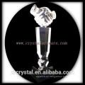 alta calidad K9 apretón de manos en blanco cristal Premio cristal trohpy