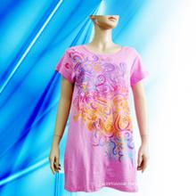 100% Cotton Lady′s Screen Print Nightdress