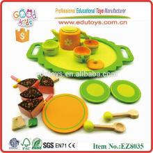 Wooden Tea Set Kinder Spielzeug