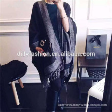 hot selling cashmere poncho women 100% cashmere capes