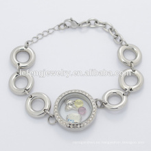 Pulsera de cadena de plata del grano grande de acero inoxidable de diseño nuevo para la fabricación de joyas
