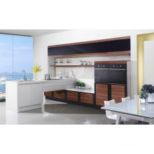 Gabinete de cozinha de laca moderno econômico para uso do projeto
