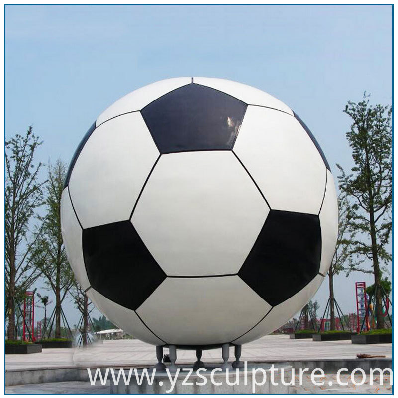 Stianless Steel Football Sculpture