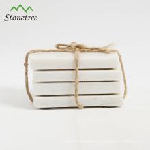 posavasos cuadrados de mármol blanco