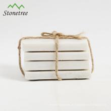 coasters quadrados de mármore brancos