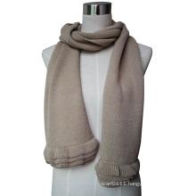 2015 New Fashion Wool Knit Scarf with Ruffle Trim (YKY4377-3)