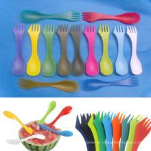 3 em 1plastic talheres com colher-garfo e faca