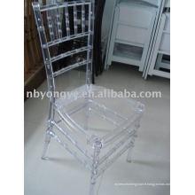 Chaise acrylique en plastique chiavari