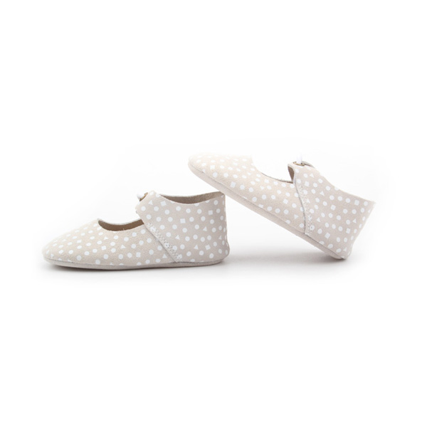 New Styles Dots Real Leather Soft Oxford Shoes Baby