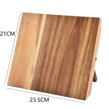 KINDOME Amazon hot sale magnetic wood knife holder block