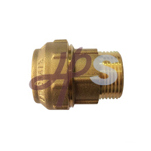 China factory brass plumbing fitting for PE tube