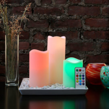 Wax LED candle with remote