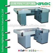 checkout counter for supermarket , design checkout counter , checkout counter with conveyor belt