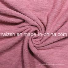 Tissus tricotés à la mode, tissus CVC en bambou, jersey