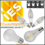 3.5W LED filament bulbs replace 40W old lamp 360 beam A++ energy rate