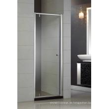 Einfaches Design gehärtetes Glas Pivot Duschtür Hb-P900