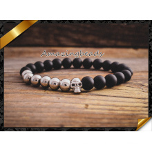 Metal Alloy Skull Charms Beads Bracelets with Stone Jewelry (CB032)