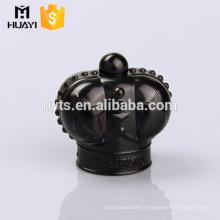 black zamac perfume glass bottle cap