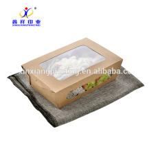 Персонализированные устранимые бумажные коробки обеда,бумажная коробка обеда Малайзии,крафт-бумаги коробка обеда