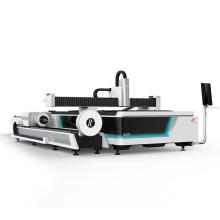Chrome steel sheet and tube exchanged platform dual use laser cutting machine