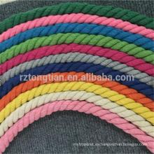 3 hilos de cuerda trenzada de algodón para la venta al por mayor de textiles para el hogar