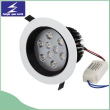 Non Glare 9W White LED Recessed Downlight (AC 85-265V)