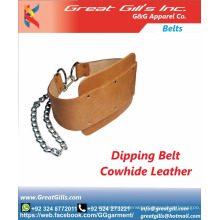 Leather custom gym belt brown leather weightlifting belt Quality Choice / dipping belt