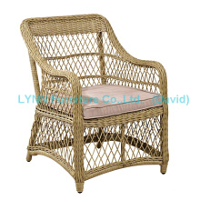 Móveis de lazer Cadeira de vime Rattan Single Sofa