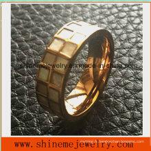 Bague à doigts à bijoux en acier inoxydable à haute qualité en acier inoxydable (SSR2693)