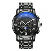 Luxury sapphire crystal blank case steel watch