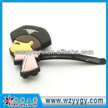 Fancy soft pvc OEM silicone hairpin