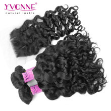 Brazilian Virgin Hair Bundles with Lace Closure