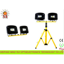 Luz de inundación portátil impermeable del LED con el soporte del trípode 2 * 30W
