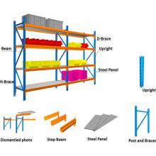 Industrial Storage Steel Long Span Shelving with Medium Duty