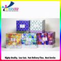 Personalizar caixa de dobramento de fita para caixa de papel de extensão do cabelo